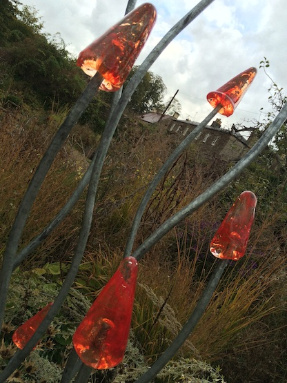 The Walled Garden at Mells - metal sculpture