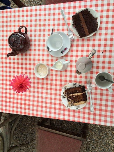 The Walled Garden at Mells - tea and cake