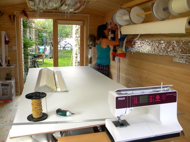 Thermal blinds - sewing machine