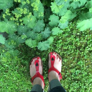 Red toe nails - About All Things Bright and Good