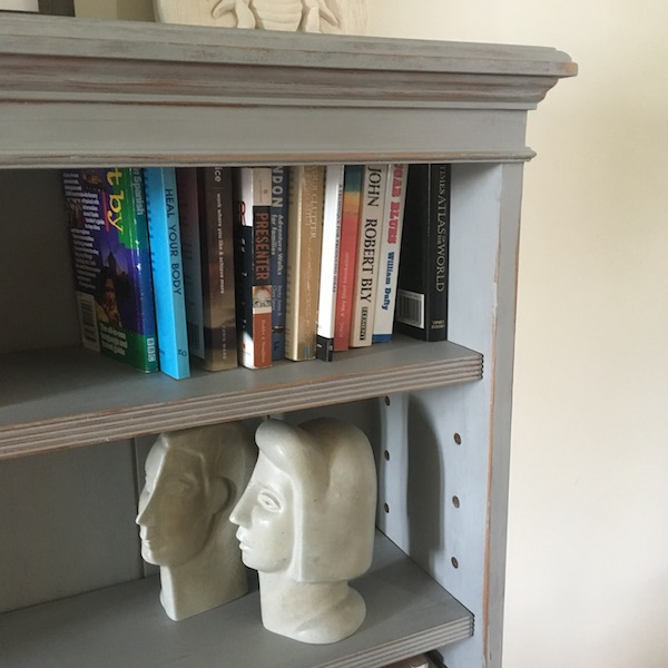 Chalk paint - corner of bookcase