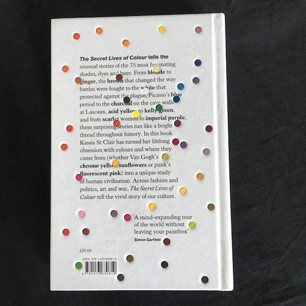 The Secret Lives of Colour - back cover