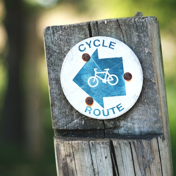 On your bike - cycle route