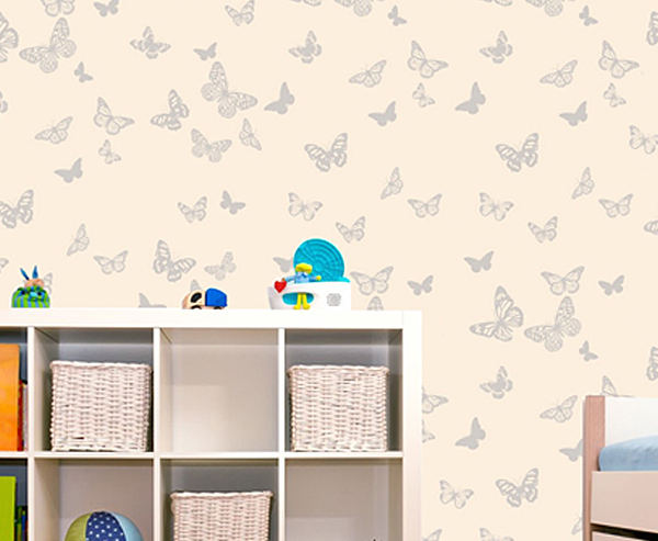 Workspace walls - butterfly wallpaper
