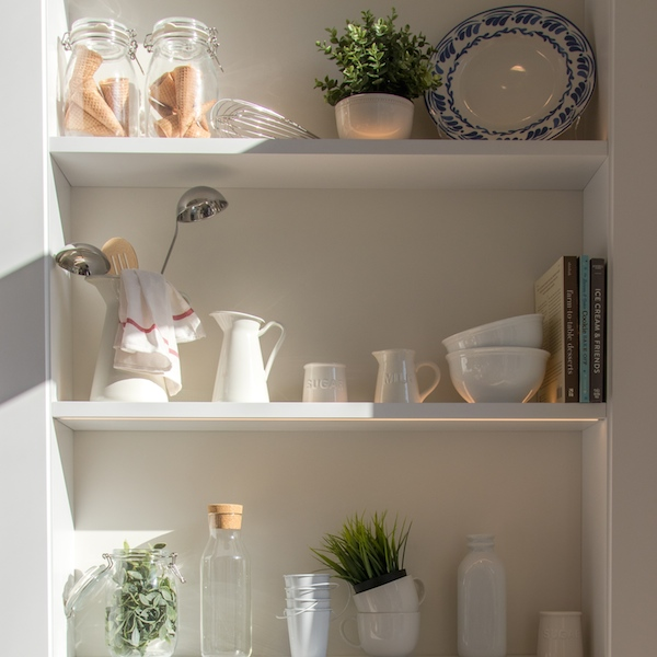 Less plastic - shelves